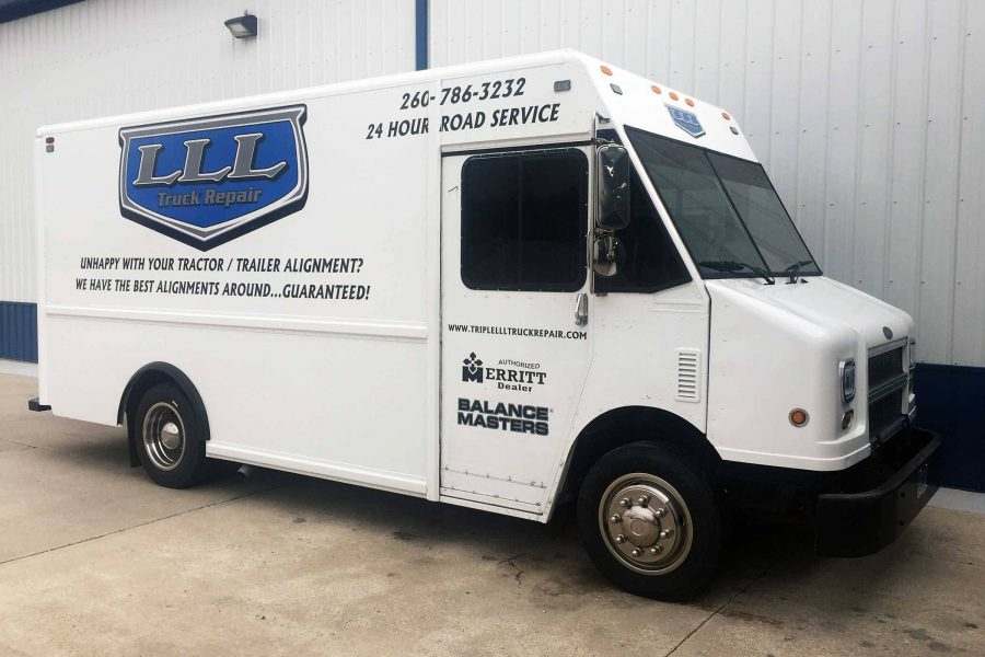 Triple LLL truck repair's 24 hour truck repair vehicle